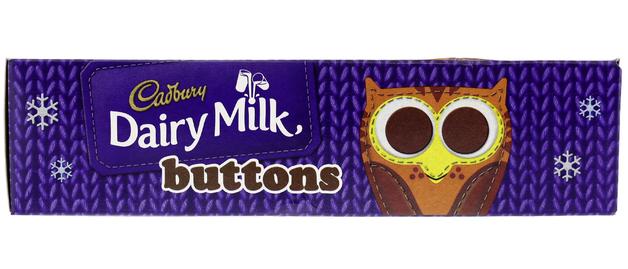 Cadbury: Dairy Milk Buttons Christmas Chocolate Tube (72g)
