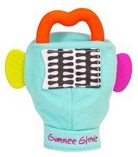 Gummee Glove: Turquoise Gummee Glove - Silicone Teether (Orange)