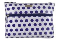 Wicked Sista: Navy Spots Extra Large Flat Cosmetic Bag