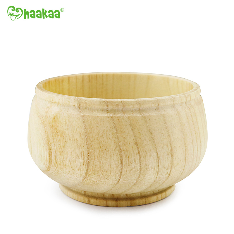 Haakaa: Wooden Mushroom Bowl with Suction Base - Blue image