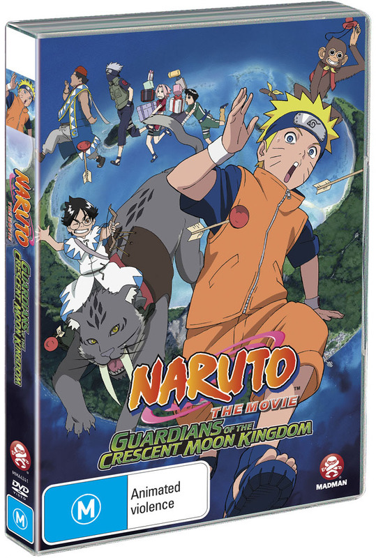 Naruto - The Movie 3: Guardians of the Crescent Moon Kingdom on DVD