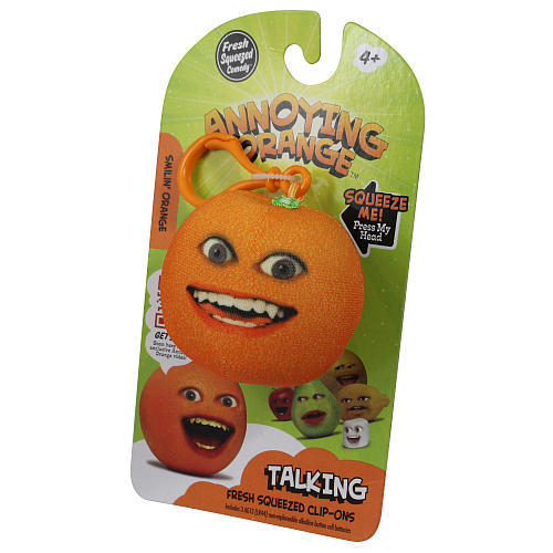 Annoying Orange Talking Plush Keyring / Clip-on - Smiling Orange