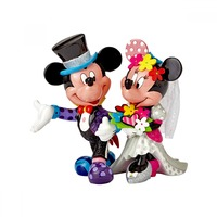 Romero Britto - Mickey & Minnie Wedding Figurine