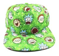 Rick and Morty All Over Green Snapback