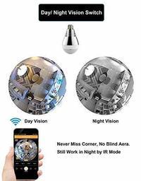 360 Degree Panoramic Light Bulb WiFi Security Camera | at
