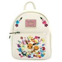 Loungefly: Pokemon - Eevee Family and flowers Mini Backpack