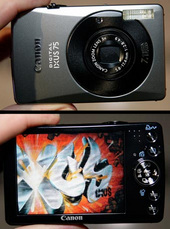 "Canon IXUS 75 7.1Mp 3x Optical Digital Camera 3"" LCD IXUS75 image"