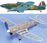 West Wings 1:24 Model Aircraft Kit - 'Wingleader' Hurricane MK1 (rubber powered)