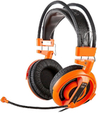 E-Blue Cobra-I gaming Headset with Microphone - Orange Edition for PC Games