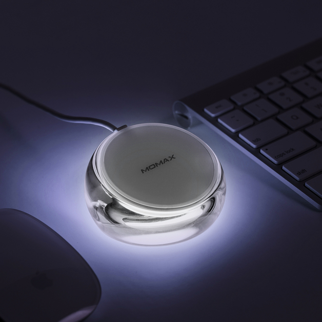 Momax Crystal Fast Wireless Charging Stand