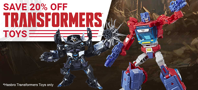 20% off selected Transformers Toys!