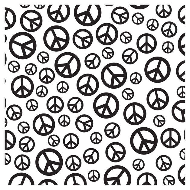SKINZ: Flocked Book Cover - Peace (45cm x 1m)