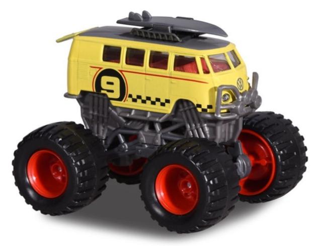 Majorette: Monster Rockerz - VW T1 Surf Bus (Yellow)