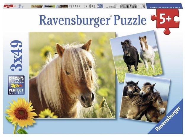 Ravensburger: Loving Horses - 3x49pc Puzzle