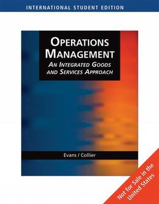 Operations Management by James R Evans image