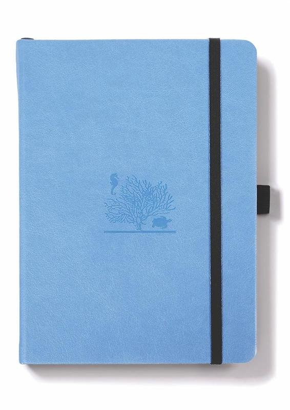 Dingbats Earth: A5 Sky Blue Great Barrier Reef Notebook - Dotted