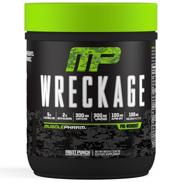 MusclePharm: Wreckage Pre-Workout - Fruit Punch (25 Serves)