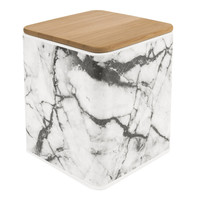 Canister Marble white - Medium