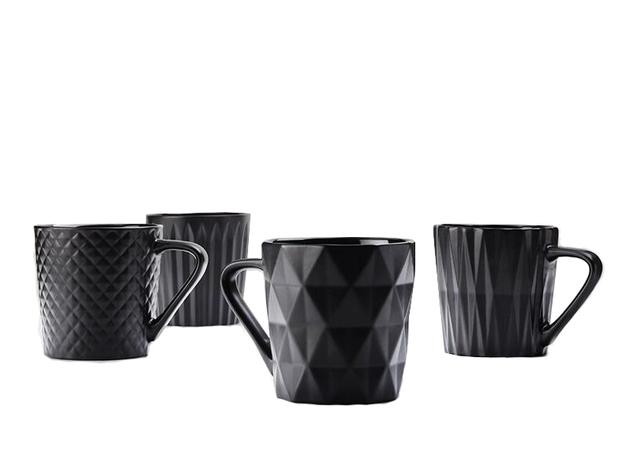 Maxwell & Williams Mug Set of 4 (Matte Black)