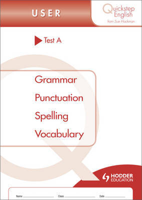 Quickstep English Test A User Stage by Sue Hackman image