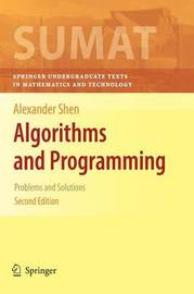 Algorithms and Programming by Alexander Shen