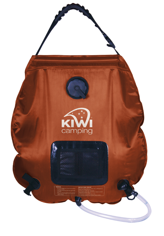Kiwi Camping Deluxe Solar Shower - 20 Litres