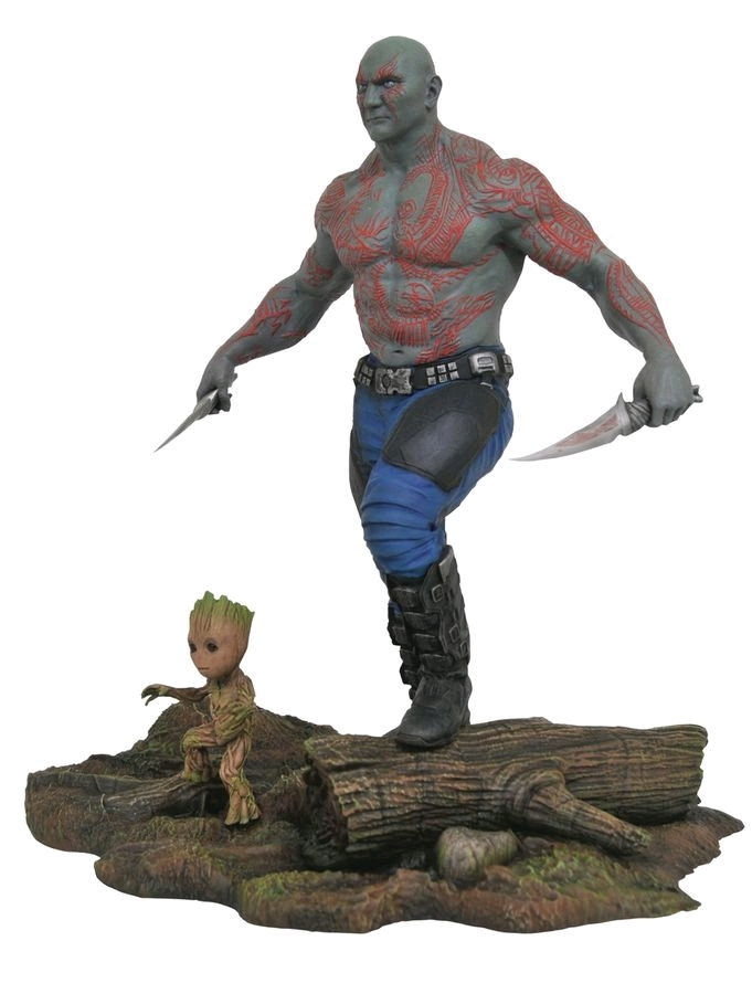 "Guardians of the Galaxy: Vol. 2: Drax & Baby Groot - 11"" PVC Diorama image"