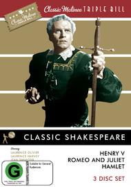 Classic Matinee Triple Bill: Shakespeare (3 Disc Set) DVD image