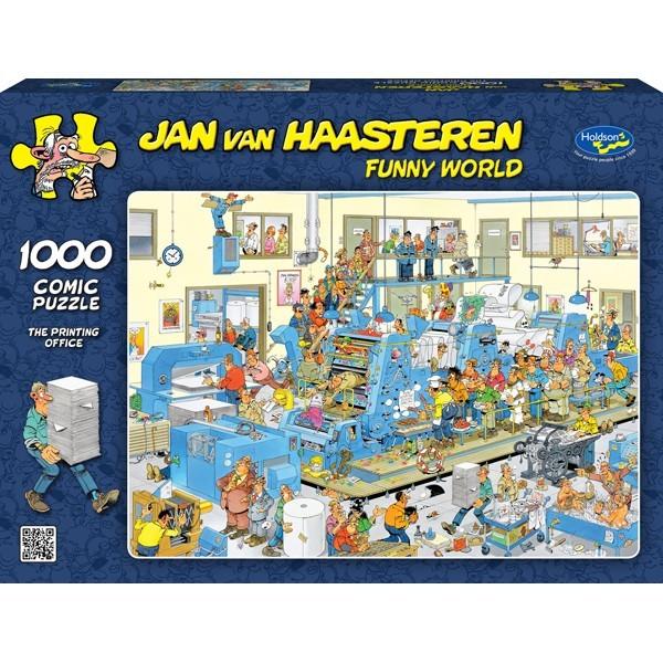 Van Haasteren: The Printing Office - 1000 Piece Puzzle image