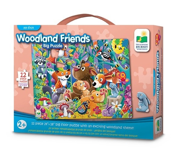 The Learning Journey: My First Big Floor Puzzle - Woodland Friends