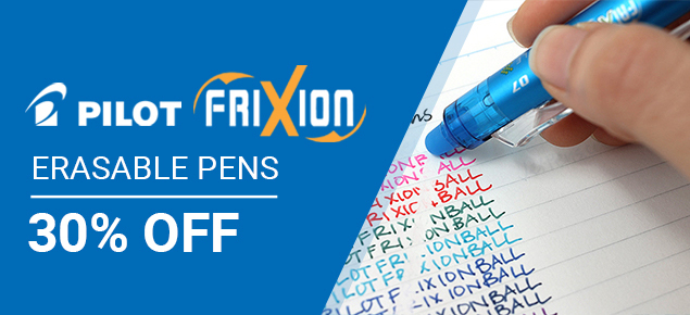 30% off Pilot Frixion!