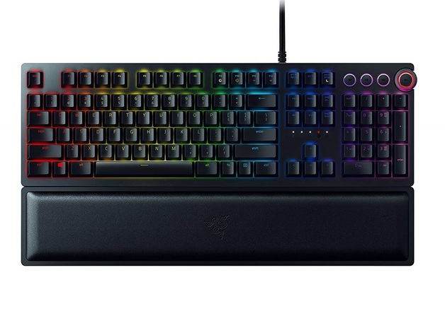 Razer Huntsman Elite Mechanical Gaming Keyboard With Wrist Support for PC