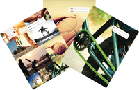 Spencil: Sports Collage A4 Book Cover - Assorted (3 Pack) image