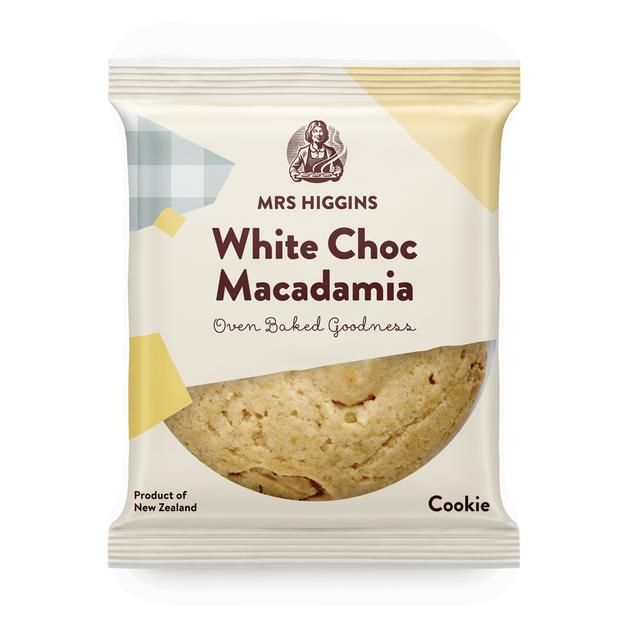 Mrs Higgins: White Choc Macadamia Cookie (85g) Pack of 9