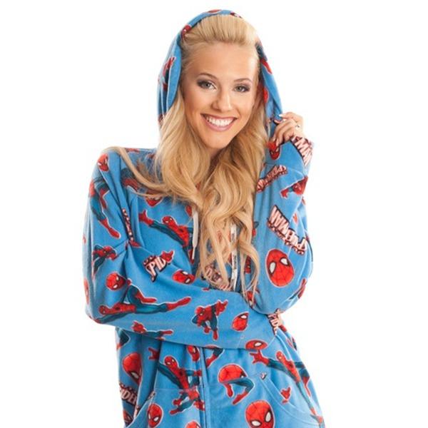 85f7b238ee20 Spiderman Footed Hooded Pyjamas