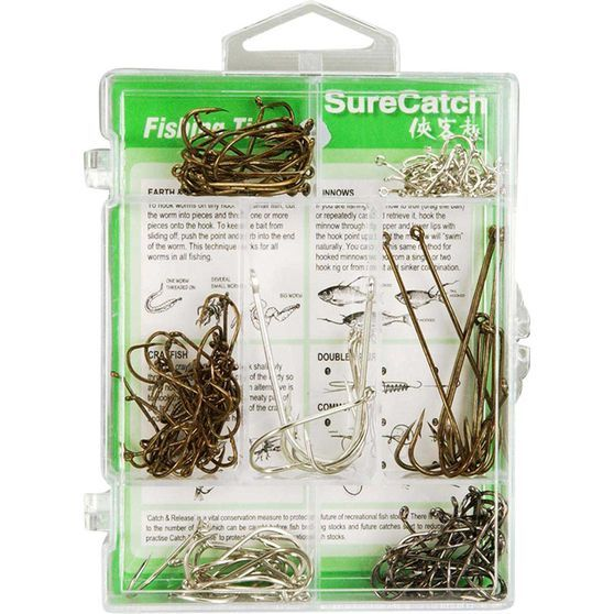 Surecatch Assorted Hooks 140 Pieces