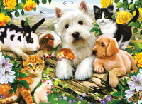 Ravensburger 300 Piece Jigsaw Puzzle - Happy Animal Babies image