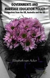 Governments and Marriage Education Policy by Elizabeth Van Acker