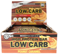 BSC High Protein Low Carb Bar - Peanut Caramel (8x60g)