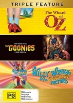 Wizard Of Oz / Goonies / Willy Wonka And The Chocolate Factory - Triple Feature (3 Disc Set) on DVD