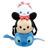 Disney Tsum Tsum: Stitch Minnie & Marie Plush Backpack