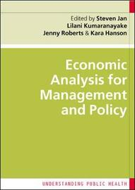Economic Analysis for Management and Policy by Steven Jan