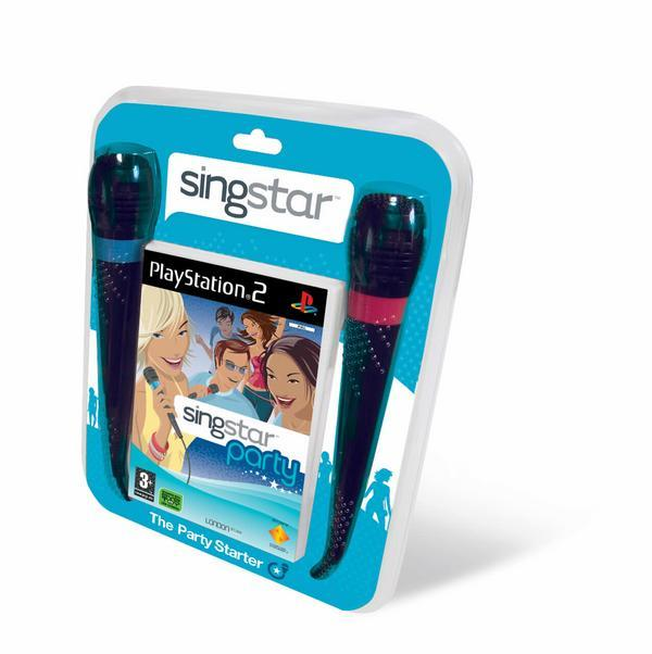 SingStar Party includes 2 x Microphones for PlayStation 2