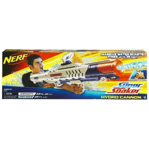 nerf super soaker hydro cannon blaster water gun toy at mighty ape nz. Black Bedroom Furniture Sets. Home Design Ideas