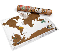 Scratch off World Map - Travel Edition (Luckies of London) image