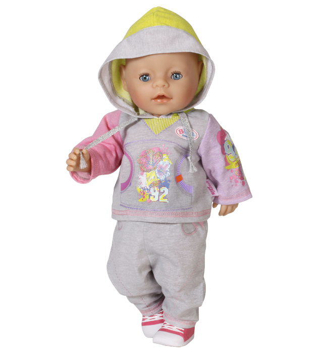 Baby Born - Deluxe Jogging Set - Grey