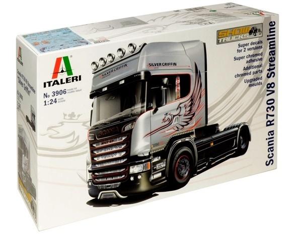 Italeri: 1:24 Scania V8 Streamline (Silver Griffin) - Model Kit