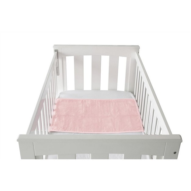 Brolly Sheet Cot Pad with Wings - Crystal Pink