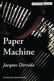 Paper Machine by Jacques Derrida