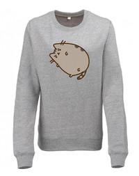 Pusheen Grumpy Crew Neck Sweatshirt (Large)